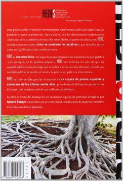 Diccionario REDES. Tapa posterior