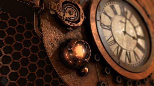 Reloj en máquina del tiempo